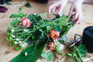スーパーの花束